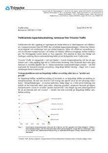 Trivector Traffics Remissvar kapacitetsutredningen