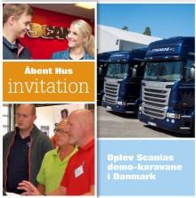 Åbent Hus hos Scania i Vejle på lørdag