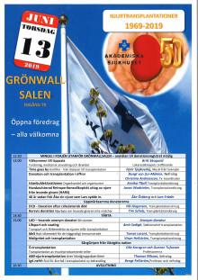 Program för 50-årsfirande av njurtransplantationer 13 juni