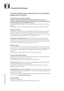 Förskolornas aktiviteter och kontaktuppgifter