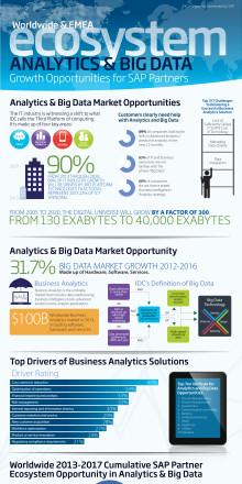 SAP-partner kommer att tjäna 220 miljarder dollar på big data och analys