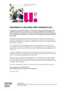Ung Svensk Form i Almedalen 6 juli 2017