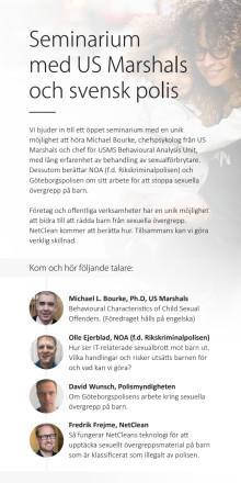 Seminarium med US Marshals och svensk polis
