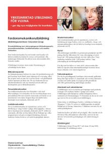 Informationsblad - Fordonsmekaniker