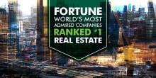 CBRE er verdens mest anerkjente eiendomsselskap på Fortune's «Most admired» liste