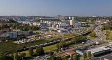 Dubbla järnvägsspår över älven i Göteborg i drift