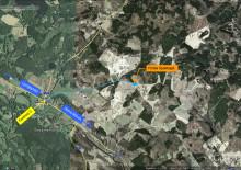 Karta till platsen rörnedläggningen sker