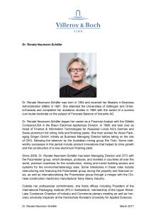 Profile of Dr. Renate Neumann-Schäfer