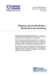 Rapport Diagnos Primärvården Stockholm
