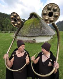 Lur på bronzealderens kultiske klange på Nationalmuseet