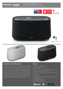 Harman Kardon Citation 500_Spec sheet