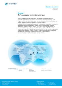 Eutelsat Dossier de presse, août 2017