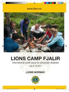 Brosjyre for Camp Fjalir 2017