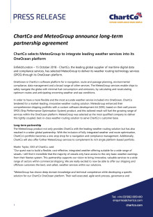 ChartCo and MeteoGroup announce long-term partnership agreement