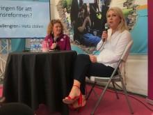 Riksföreningen JAG i Almedalen:  Socialminister Lena Hallengren (S) gav lugnande besked om assistans till personer med psykiska funktionsnedsättningar.