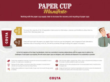Costa Paper Cup Manifesto Pledge