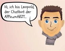 """""""Hi, ich bin Leopold"""". Chatbot der Felix Burda Stiftung erklärt die APPzumARZT."""