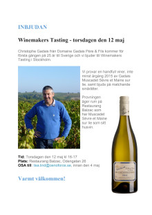 Winemakers Tasting med Gadais, 12 maj