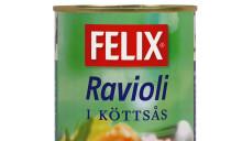 Återkallelse av Felix Ravioli i köttsås