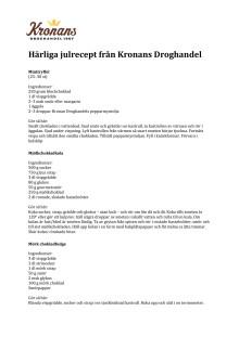 Julrecept Kronans Droghandel