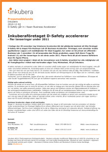 D-Safety till Business Accelerator