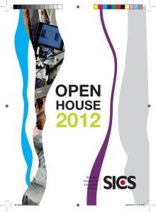 Program SICS Open House 2012