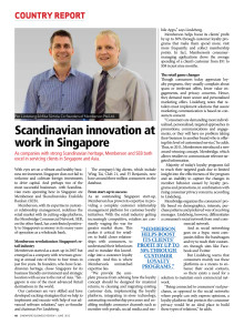 Scandinavian Innovation at work in Singapore
