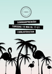Programblad, Sommarpremiär i Bibliotekstan 15 maj 2014