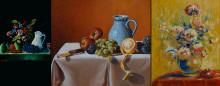 Malerikonservator stiller ut egne malerier