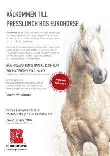 Välkommen till presslunch hos Eurohorse