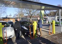 Ny laddstation för elbilar i Tranås