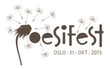 Poesifest 2015!  Velkommen til fest, poesi og musikk.