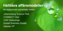 Pressinbjudan: Större västsvenskt samverkansprojekt för hållbara affärsmodeller