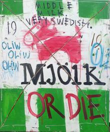 MJÖLK or Die - Oliw87 ställer ut nya målningar på Hotell Kristina