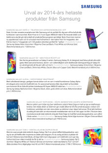 Urval av 2014-års produkter