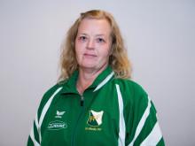 Lena Börjesson, Frillesås FF, får Woody Ungdomsledarstipendiet 2012