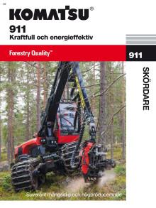 Skördare Komatsu 911 broschyr