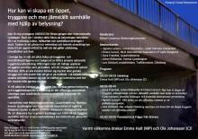 Pressinbjudan - Seminarium i Riksdagen om hur vi kan skapa trygghet med hjälp av belysning