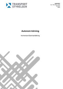 Kortversion av förstudien om autonom körning