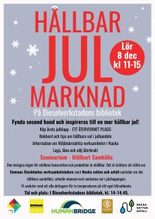 Affisch - Hållbar julmarknad 8 december
