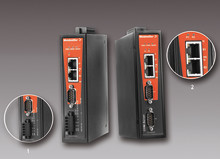 Weidmüllers seriella/Ethernet-omvandlare utrustade med en eller två portar för industriell automation.
