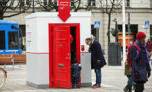 Riksbyggens Röda dörren kommer till Uppsala under Kulturnatten