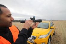 Jager fugl med laser