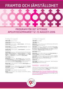 Välkommen till Apelrydseminariet 2016 Framtid & Jämställdhet!
