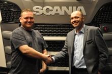 Vognmand Rene Bergh køber ny Scania Ecolution på Transport 2017