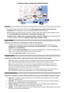 Providence Airport factsheet