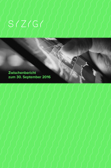 Zwischenbericht zum 30. September 2016