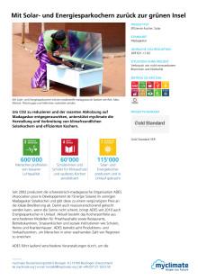 Barmenia-Kompensation 2016 Beschreibung Klimaschutzprojekt Magagaskar
