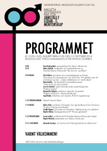 Program Birgitta Wistrands Pris 2014