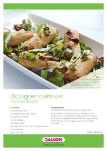 Opskrift: Økologiske forårsruller med kikærtesalat